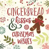 Gingerbread Kisses Art Print
