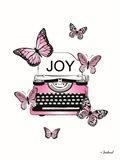 Joyful Typewriter Art Print
