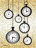 Glitter Watches Art Print