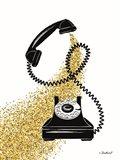 Glitter Phone Art Print