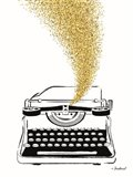 Glitter Typewriter Art Print