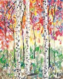 Colorful Birch Forest Art Print