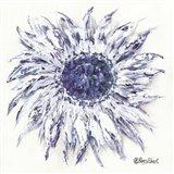 Blue Sunflower Art Print