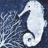 Midnight Seahorse Art Print