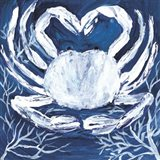 Midnight Ghost Crab Art Print