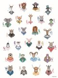 Animal Alphabet Poster Art Print