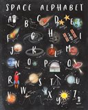 Space Alphabet Art Print