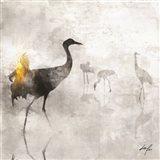 Dance of Cranes Art Print