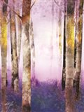 Birch Purple Blues II Art Print