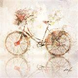 Flower Bike Journey Art Print