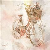 Flower Bike Journey II Art Print