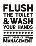 Flush the Toilet Art Print