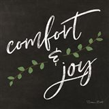 Comfort & Joy Chalkboard Art Print