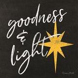 Goodness & Light Chalkboard Art Print