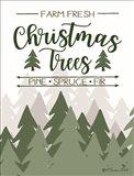 Farm Fresh Christmas Trees Art Print
