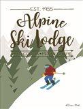 Alpine Ski Lodge Art Print