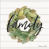 Family Wreath Art Print