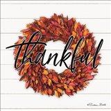Thankful Wreath Art Print