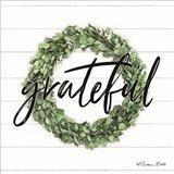 Grateful Boxwood Wreath Art Print