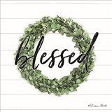 Blessed Boxwood Wreath Art Print