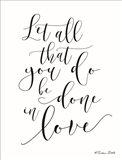 Done in Love Art Print