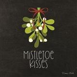 Mistletoe Kisses Art Print