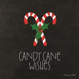 Candy Cane Wishes Art Print
