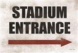 Stadium Entrance Art Print