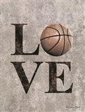 LOVE Basketball Art Print