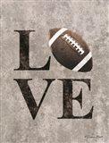 LOVE Football Art Print