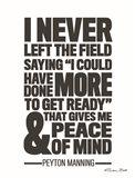 Peyton Manning Quote Art Print