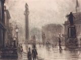 City Stroll Art Print