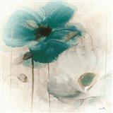 Teal Poppies I Art Print