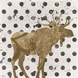 Forest Glam Moose Art Print