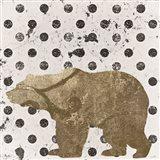 Forest Glam Bear Art Print