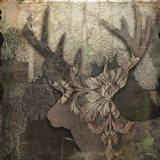 Gothic Forest Deer Art Print