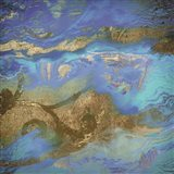 Cobalt Sea Art Print