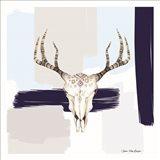 Colored Steer Head I Art Print