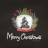 Merry Christmas Candle Art Print