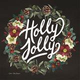 Holly Jolly Wreath Art Print