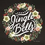 Jingle Bells Wreath Art Print