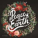 Peace on Earth Wreath Art Print