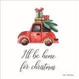 I'll be Home for Christmas Art Print