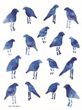 Bleu Birds Art Print