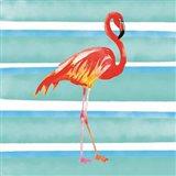Tropical Life Flamingo II Art Print