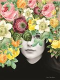 The Girl and the Flowers Art Print