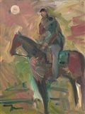 Desert Horseman Art Print