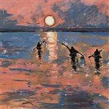 Sunset Kayaking Art Print