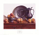 Peaches & Pewter Art Print
