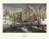 Mill in the Morning Art Print